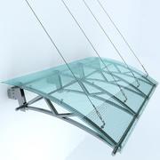 玻璃雨棚 3d model