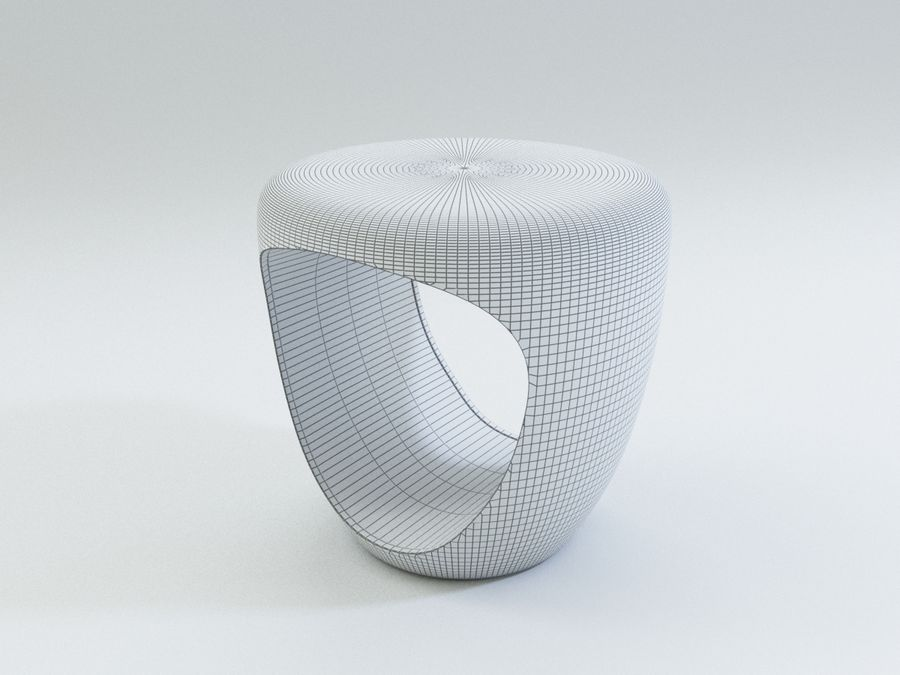 Bonaldo pouf royalty-free 3d model - Preview no. 5