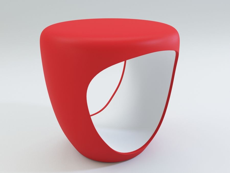 Bonaldo pouf royalty-free 3d model - Preview no. 4