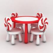 Tafel en stoelen kinderen 3d model