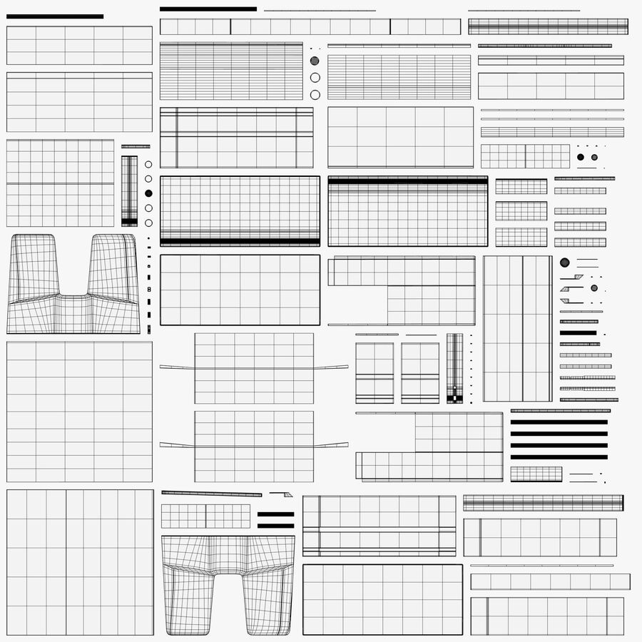 Drukarka 1 royalty-free 3d model - Preview no. 11