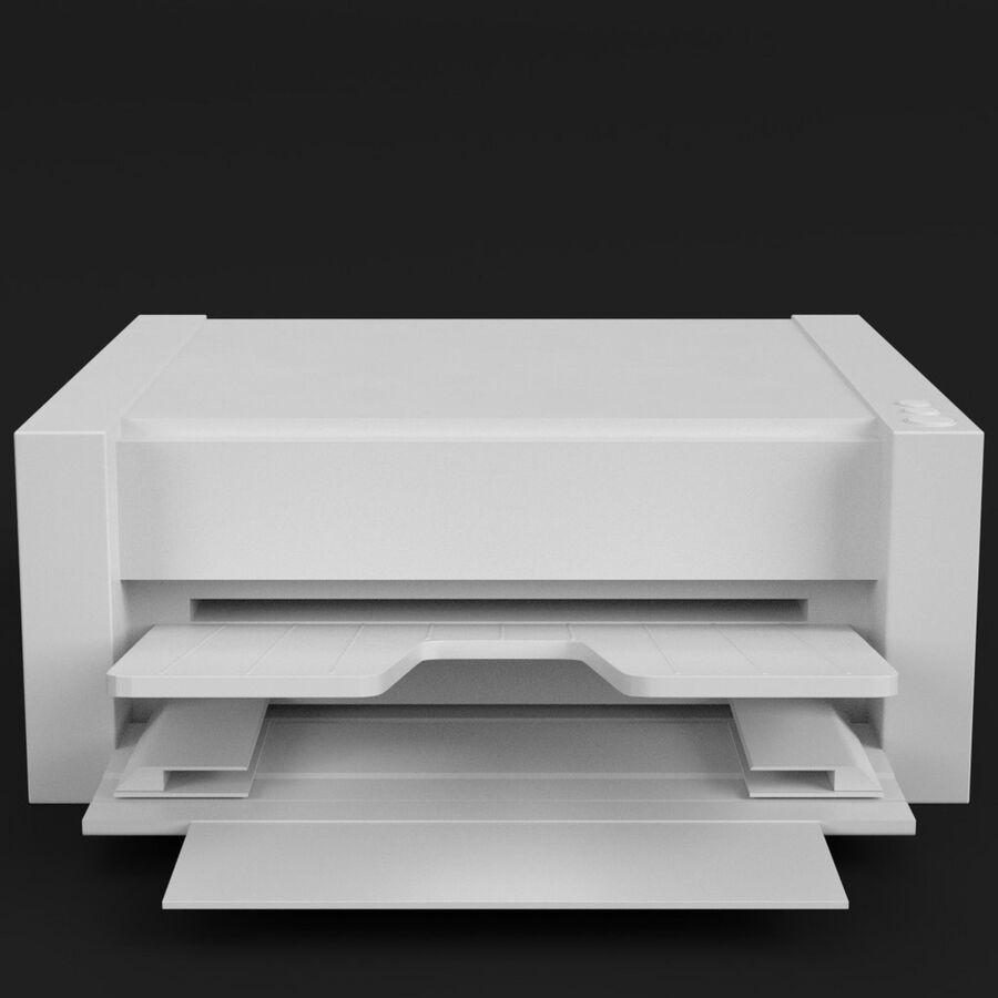 Drukarka 1 royalty-free 3d model - Preview no. 3