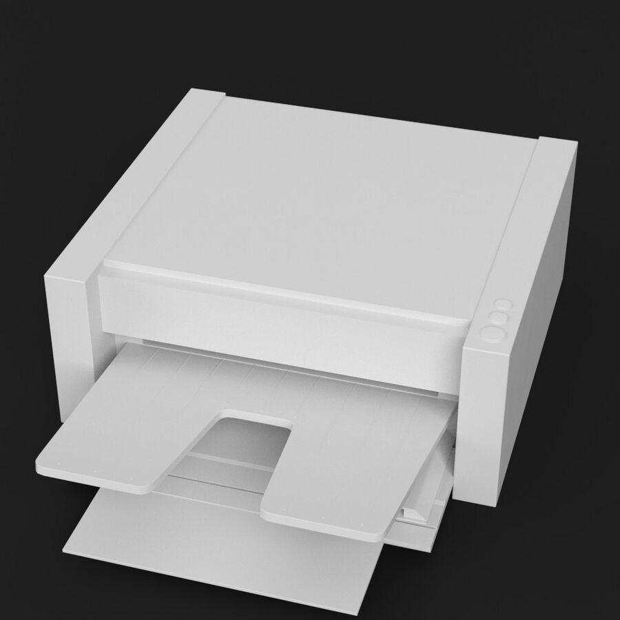 Drukarka 1 royalty-free 3d model - Preview no. 2