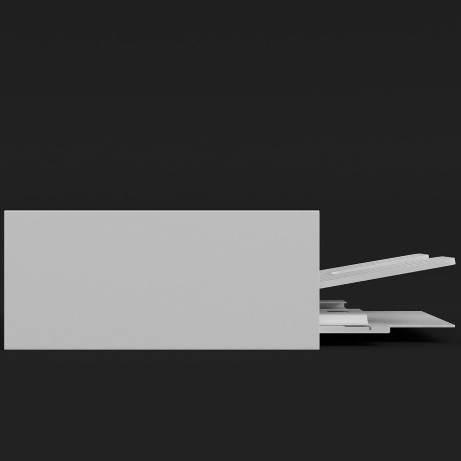 Drukarka 1 royalty-free 3d model - Preview no. 4