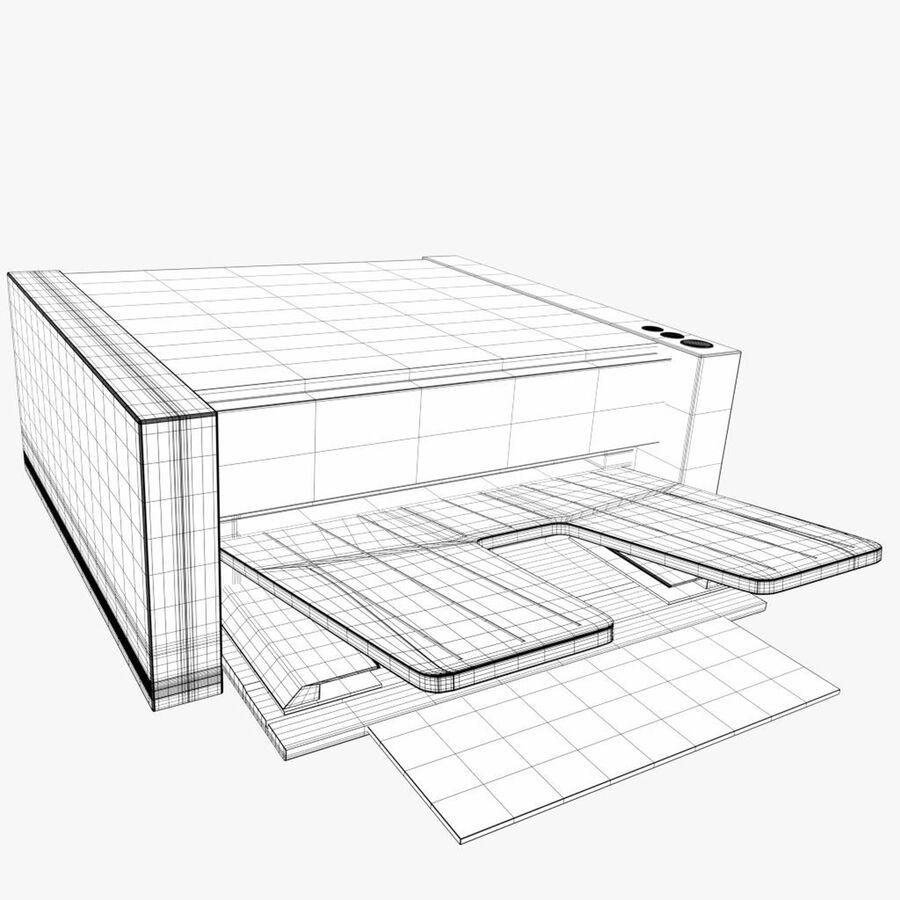 Drukarka 1 royalty-free 3d model - Preview no. 7