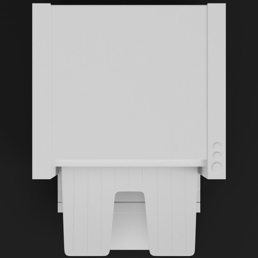 Drukarka 1 royalty-free 3d model - Preview no. 6