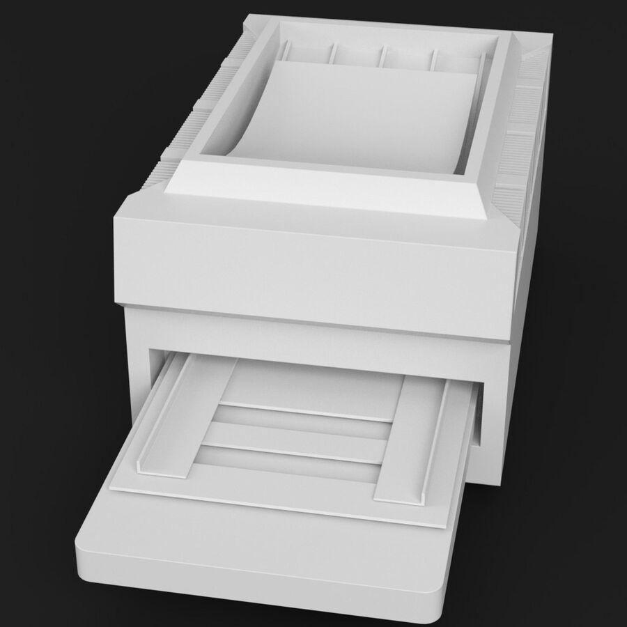 プリンター2 royalty-free 3d model - Preview no. 2