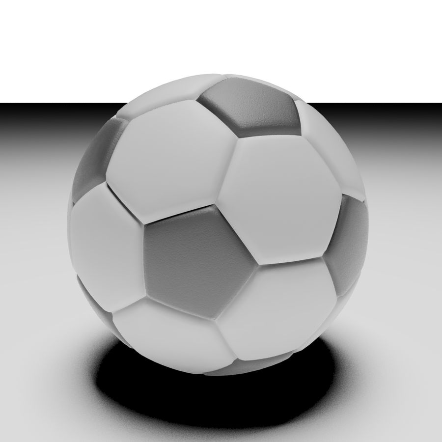 Soccerball royalty-free 3d model - Preview no. 4