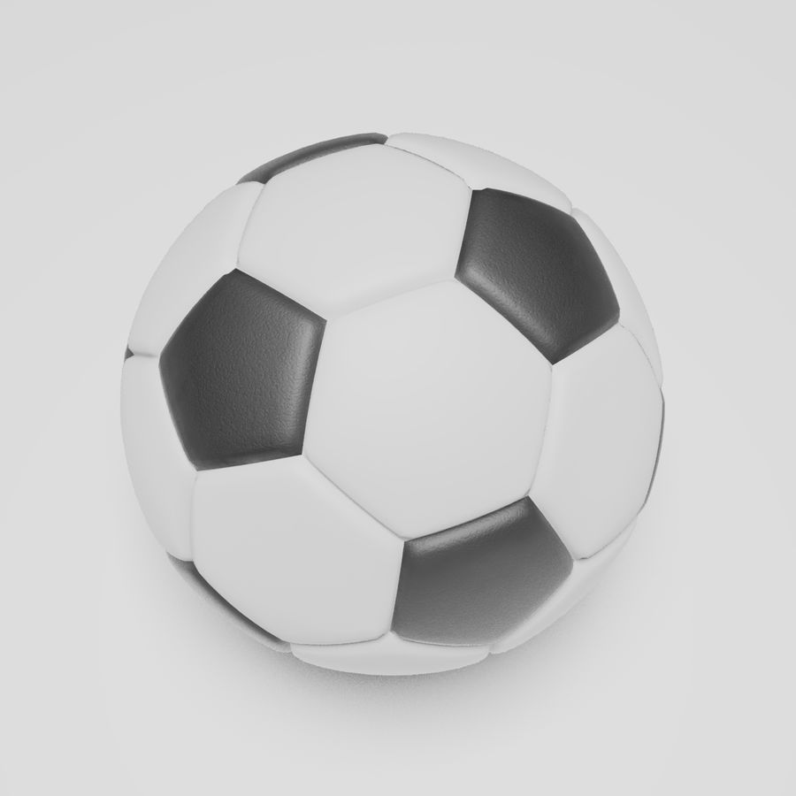 Soccerball royalty-free 3d model - Preview no. 3