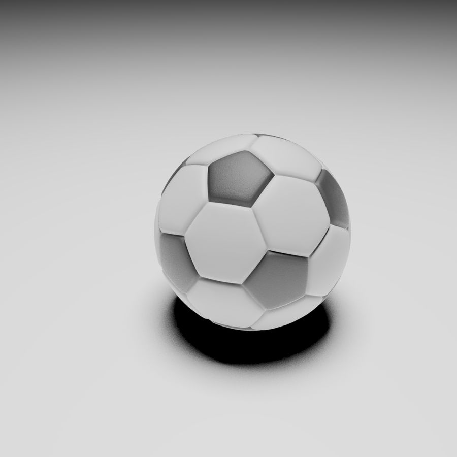 Soccerball royalty-free 3d model - Preview no. 2