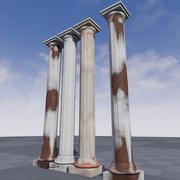 Grecki silnik Pillar Unreal 3d model