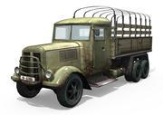 Camión del ejército modelo 3d
