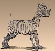 Cão com fio 3d model
