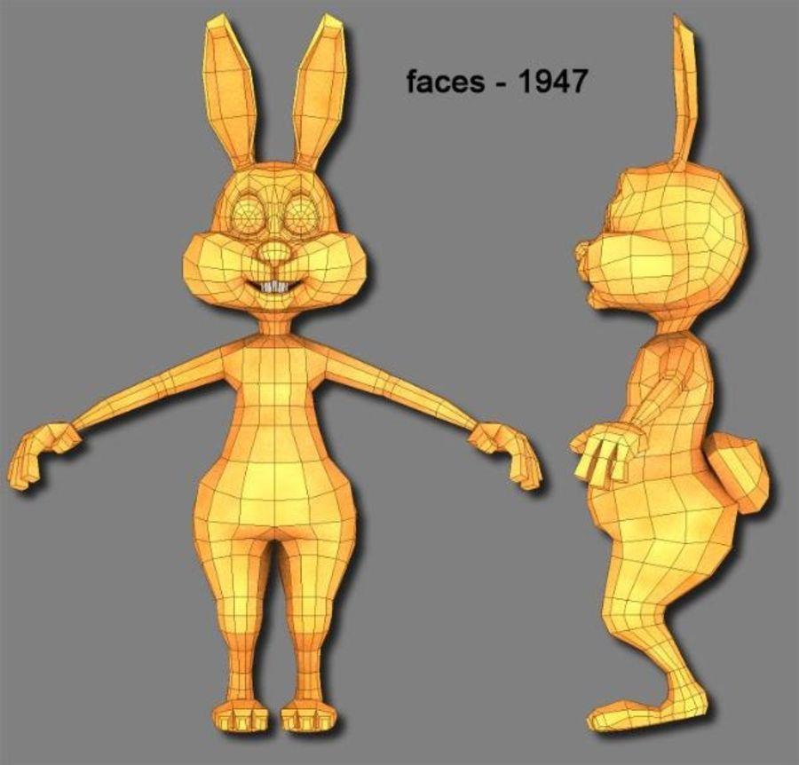 cartoon rabbit royalty-free 3d model - Preview no. 3
