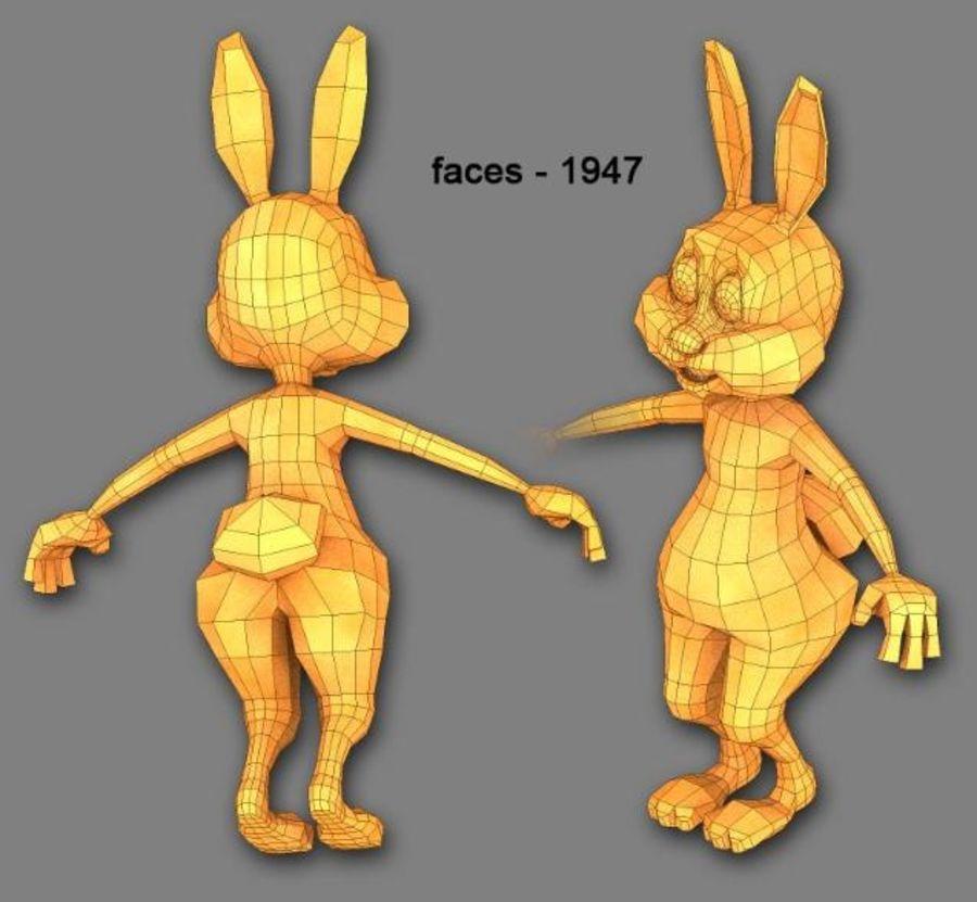 cartoon rabbit royalty-free 3d model - Preview no. 2
