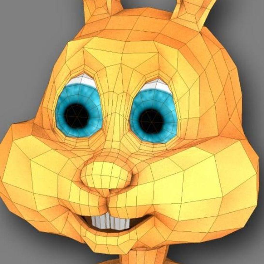 cartoon rabbit royalty-free 3d model - Preview no. 4