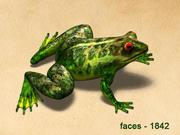 3d Model of  frog that jump 3d model