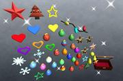 Jul dekorationer 3d model