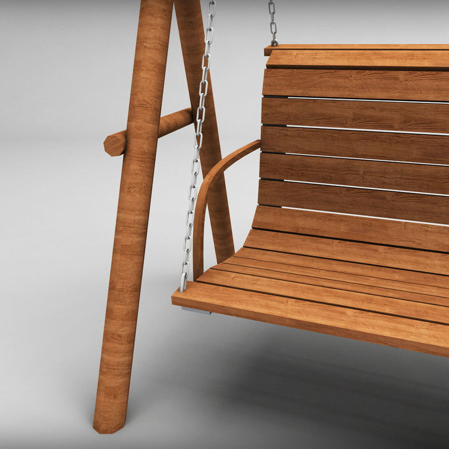Tuin houten schommels pack royalty-free 3d model - Preview no. 4