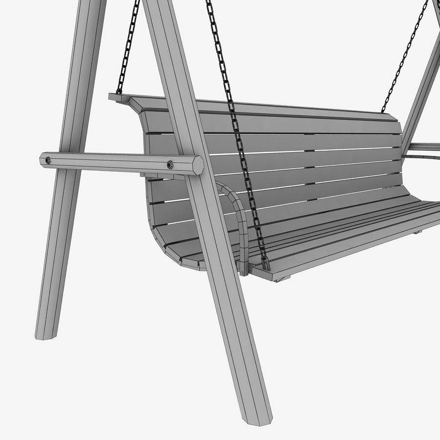 Tuin houten schommels pack royalty-free 3d model - Preview no. 12