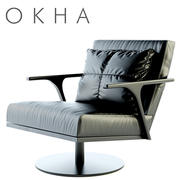 OKHA STM Swivel Base Armchair 3d model