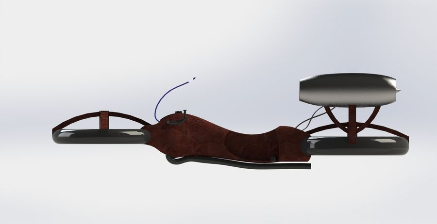 Hover Bike royalty-free 3d model - Preview no. 3