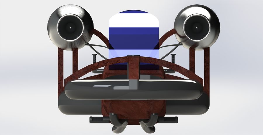 Hover Bike royalty-free 3d model - Preview no. 2