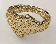 Voronoi心形手链 3d model