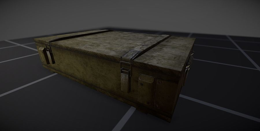Box Ammo royalty-free 3d model - Preview no. 1