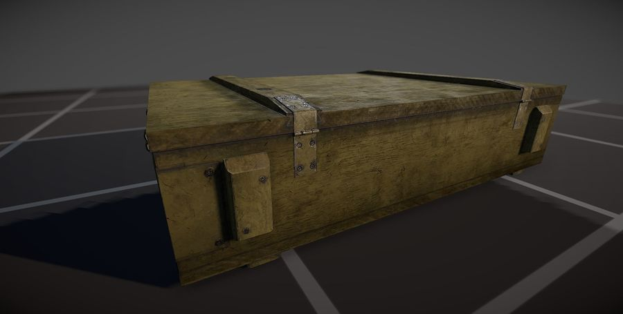 Box Ammo royalty-free 3d model - Preview no. 3