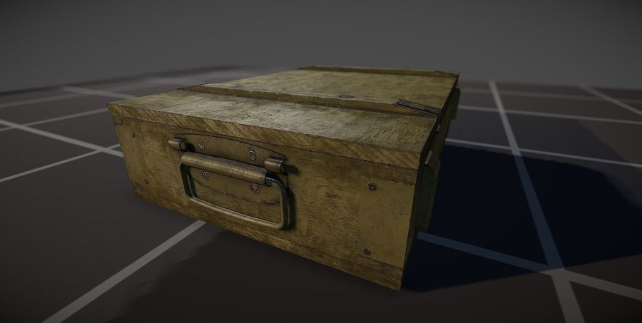 Box Ammo royalty-free 3d model - Preview no. 4