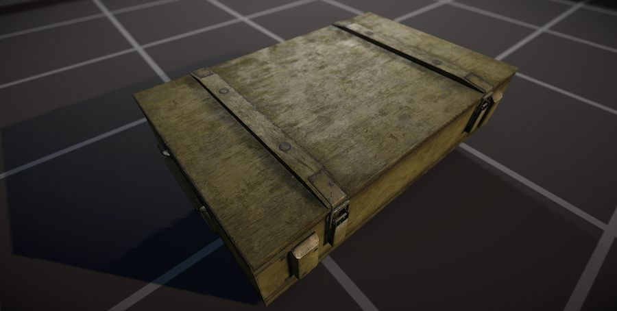 Box Ammo royalty-free 3d model - Preview no. 6
