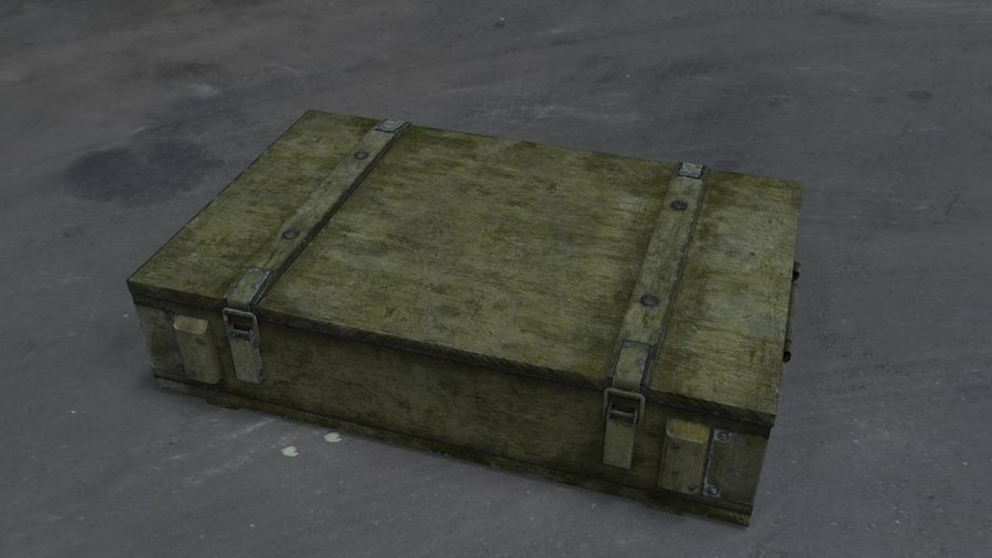 Box Ammo royalty-free 3d model - Preview no. 8