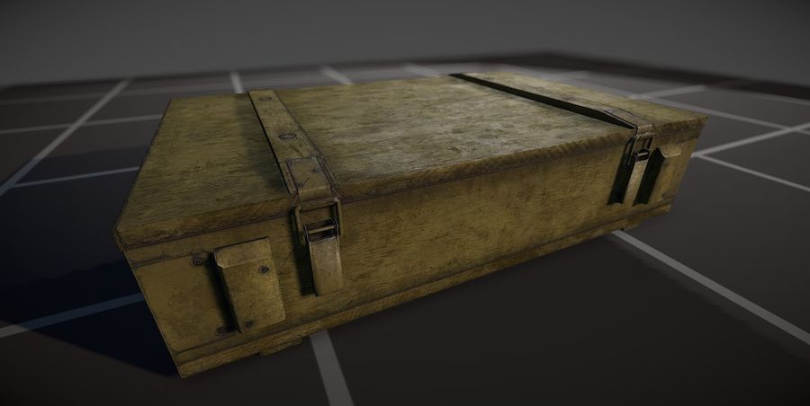 Box Ammo royalty-free 3d model - Preview no. 5