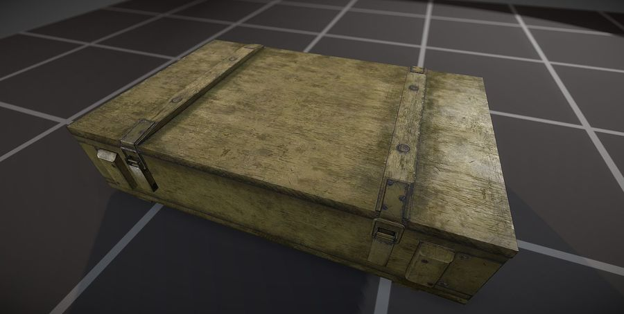 Box Ammo royalty-free 3d model - Preview no. 7