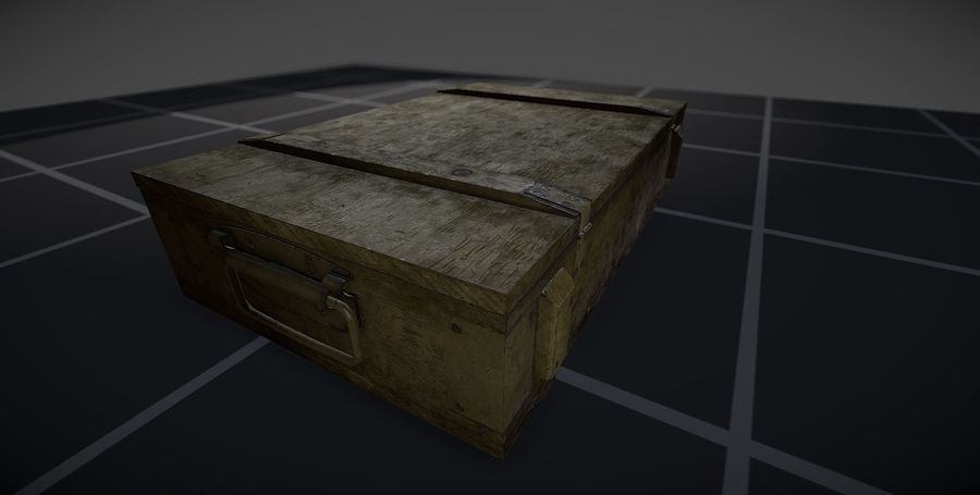 Box Ammo royalty-free 3d model - Preview no. 2