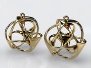 三环耳环 3d model