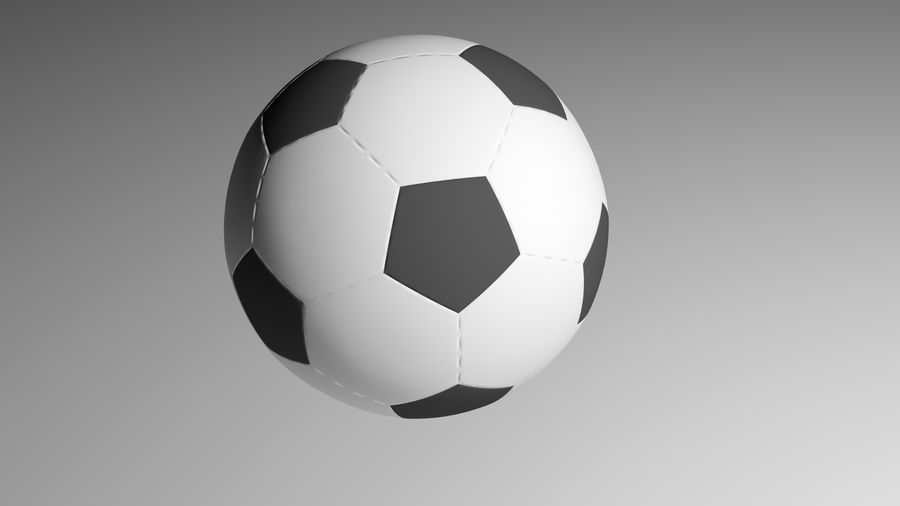 Realistic Soccer royalty-free 3d model - Preview no. 2