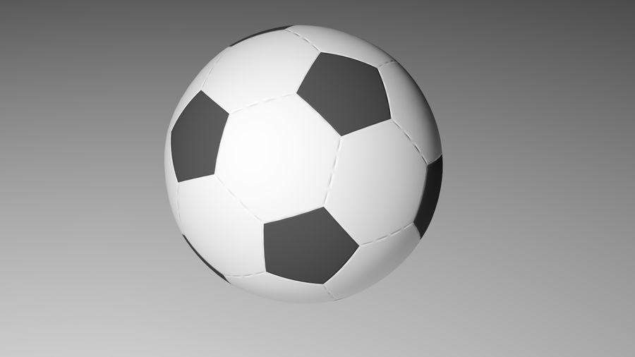 Realistic Soccer royalty-free 3d model - Preview no. 1