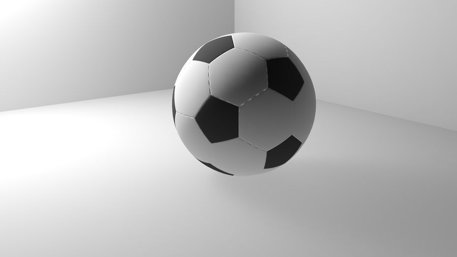 Realistic Soccer royalty-free 3d model - Preview no. 5