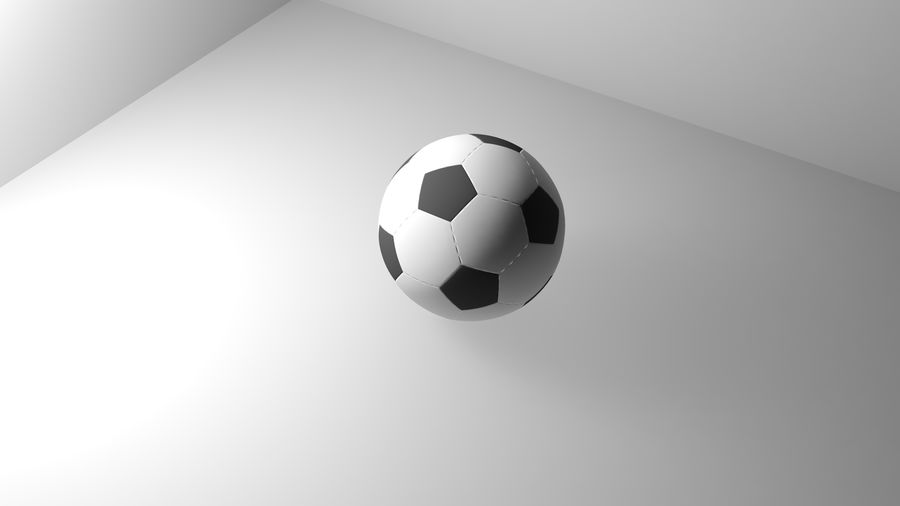 Realistic Soccer royalty-free 3d model - Preview no. 3