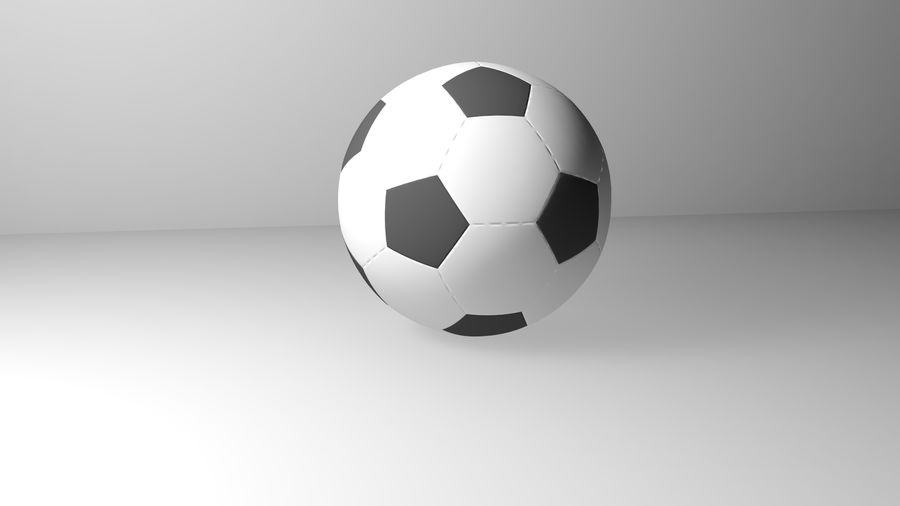 Realistic Soccer royalty-free 3d model - Preview no. 4