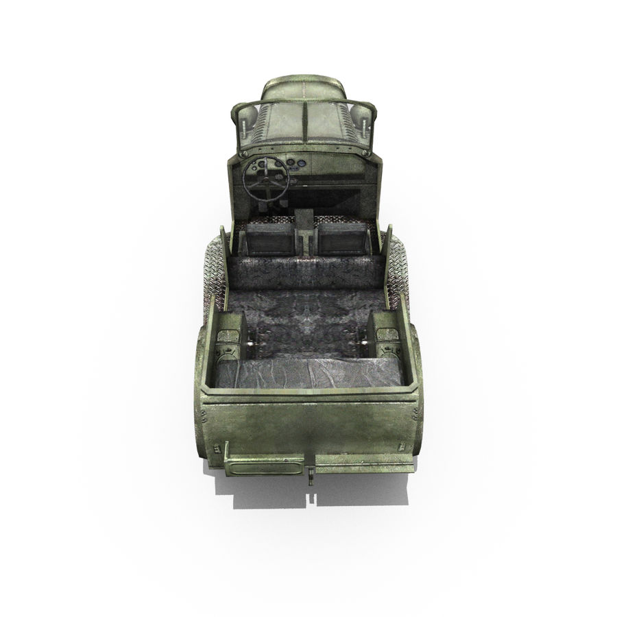 Немецкий военный автомобиль royalty-free 3d model - Preview no. 15