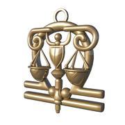 horoskop tecken libra 3d model