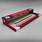 Baseball stadium dugout 3d model