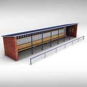 Banc de pirogue du stade de baseball 3d model