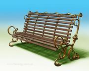 3D-modell av trädgårdsbänken 3d model