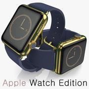 Apple Watch Edition blauw 3d model