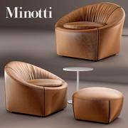 Poltrona Minotti CAPRI 3d model
