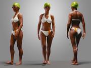 游泳游泳池的女孩BC1 3d model
